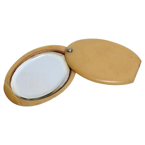 Antique Celluloid Purse Mirror