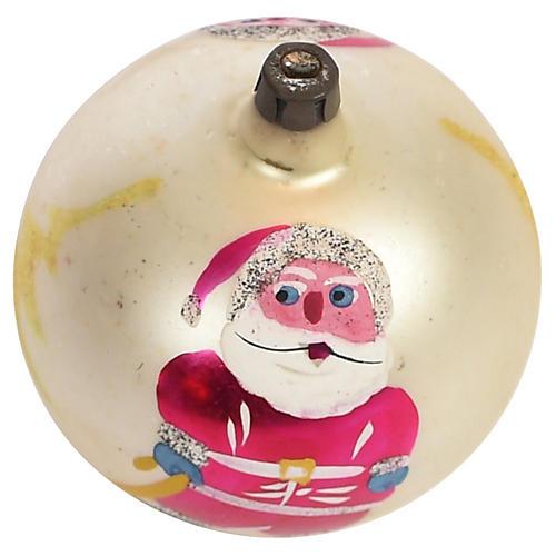 Hand-Painted Santa Christmas Ball