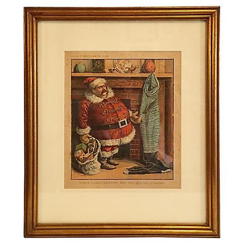 1892 Grover Cleveland Christmas Cartoon