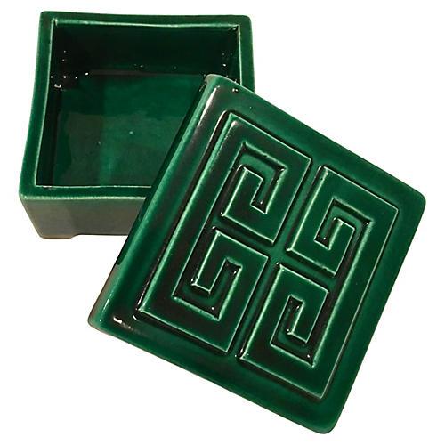 California Art Pottery Greek Key Box