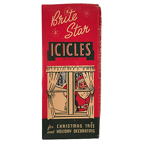 Brite Star Icicles in Original Packaging