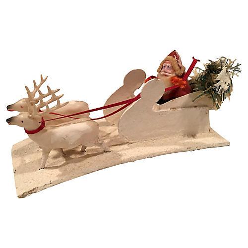 1930s Japanese Santa & Reindeer