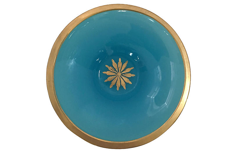 French Opaline Glass Bowl