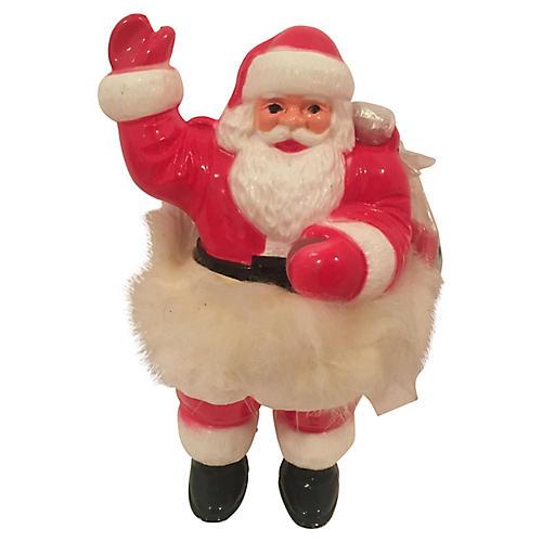 Santa w/ Faux Fur Accents & Bag of Toys