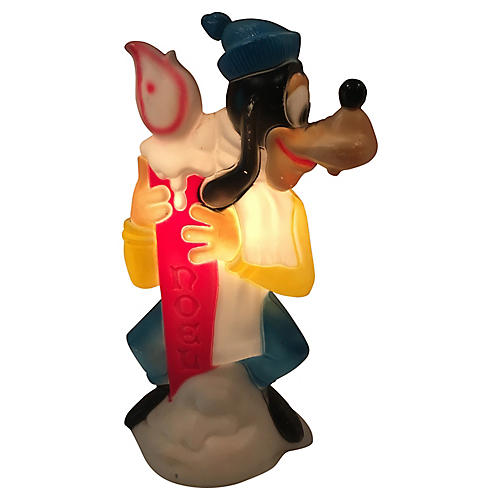 Goofy w/ Candle Light-Up Blow Mold