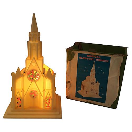 Light Up Musical Church, Orig Box