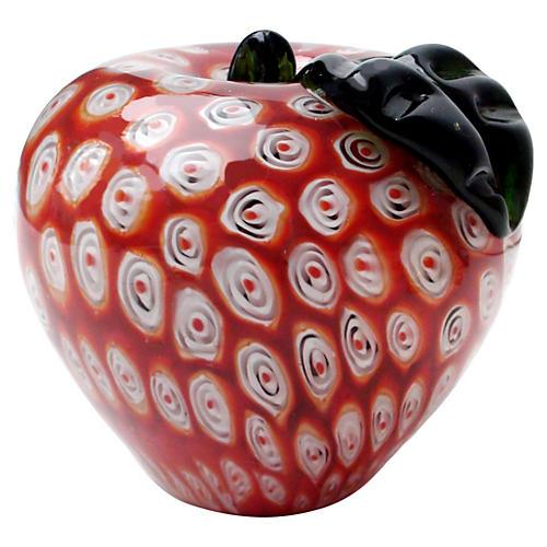Midcentury Murano Apple Paperweight