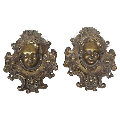 Bronze Billiard Drop Pockets, Pair