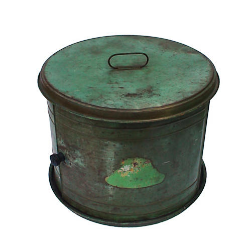 18th-C. Sliding Door Bread Tin