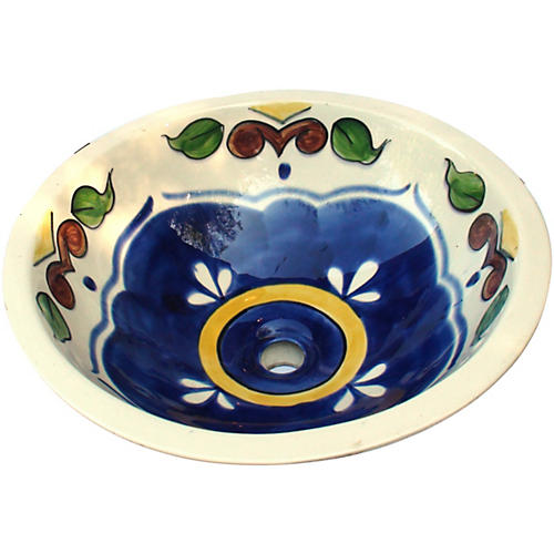 Hand-Painted Talavera Drop-In Sink