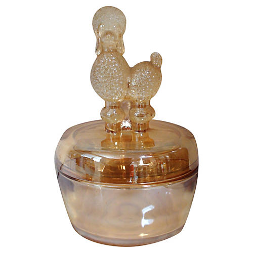 Whimsical French Poodle Jar