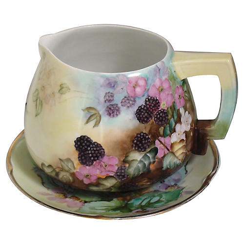 Blackberry Pitcher w/ Plate