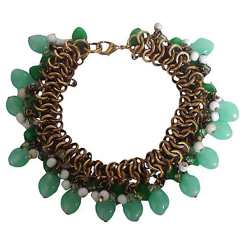 Dangling Jade Link Bracelet
