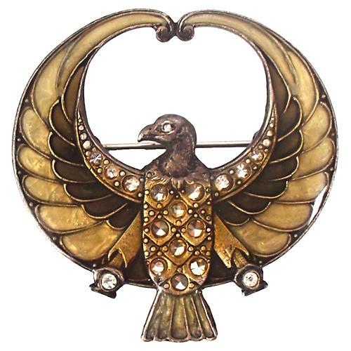 Egyptian Revival Horus Pin