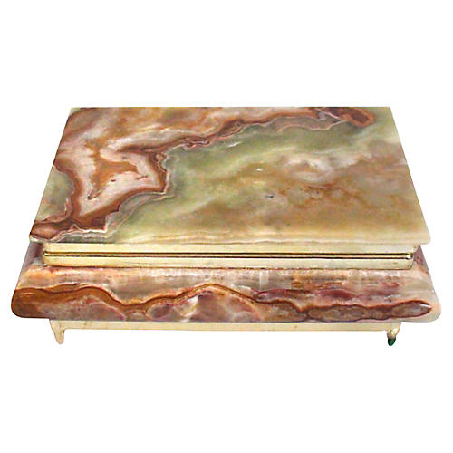 Agate Marbled Jewelry Box