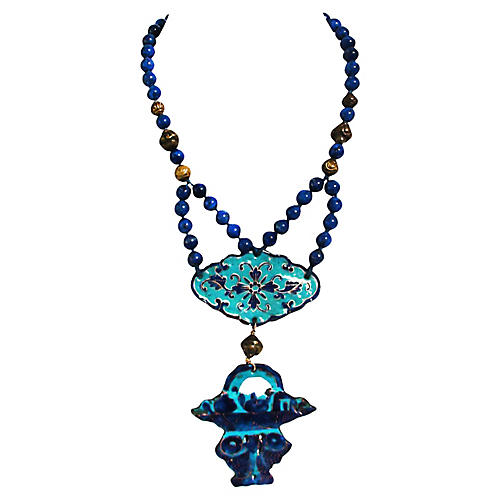 Chinoiserie Lapis Necklace