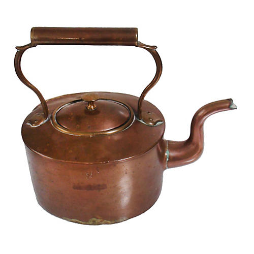 English 19th-C Copper Kettle