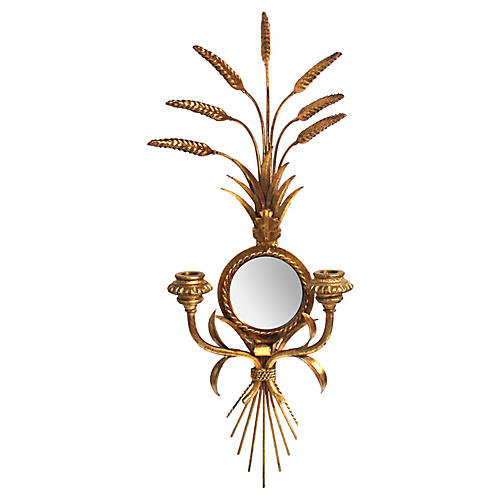Mirror Wheat Sconce