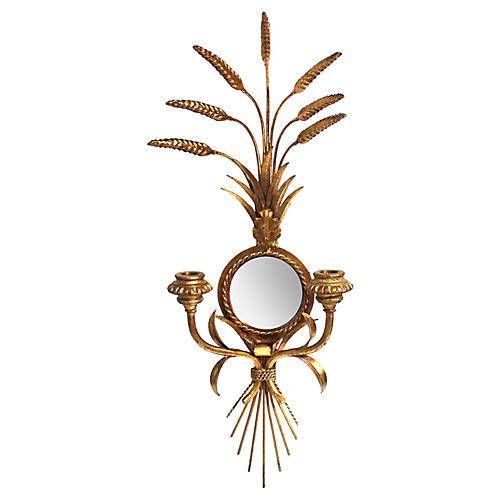 Mirror Wheat Sconce