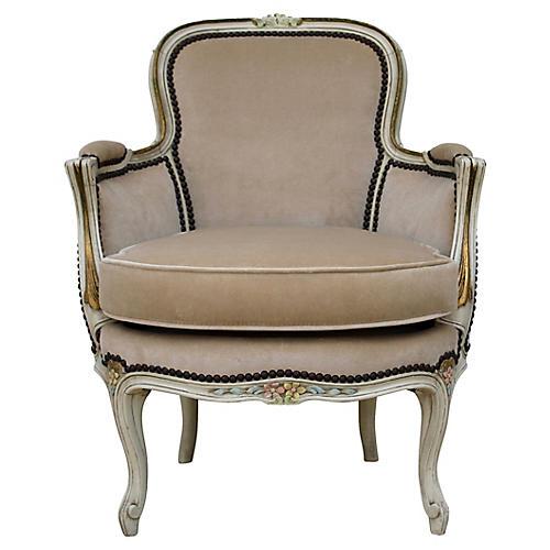 Petite Velvet Salon Chair