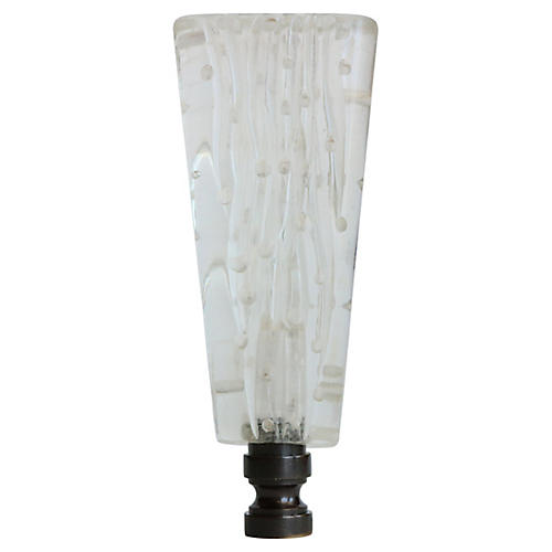 Carved Lucite Lamp Finial