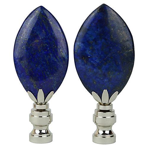 Lapis Lazuli Lamp Finials