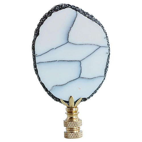 Stone Slice Lamp Finial