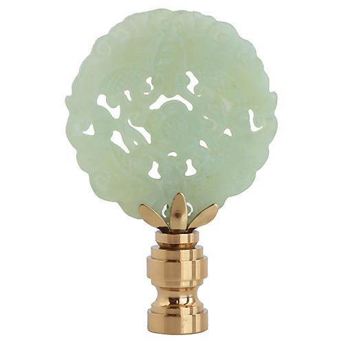 Carved Jade Lamp Finial