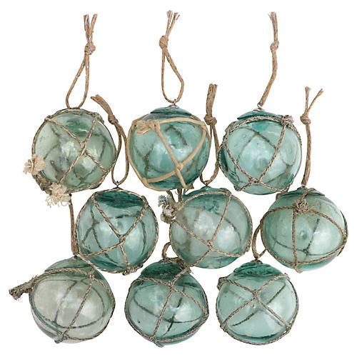 Nautical Fishing Float Ornaments, S/9