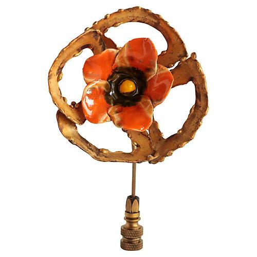 Brutalist Poppy Flower Lamp Finial