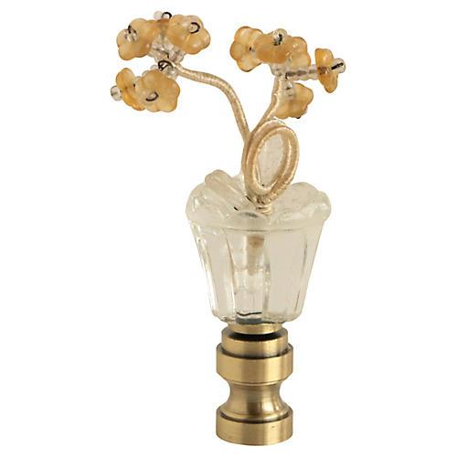 Bohemian Glass Flower Lamp Finial