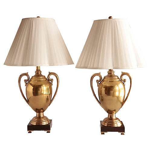 Frederick Cooper Trophy Lamps, Pair
