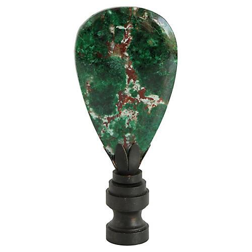 Malachite and Chrysocolla Lamp Finial