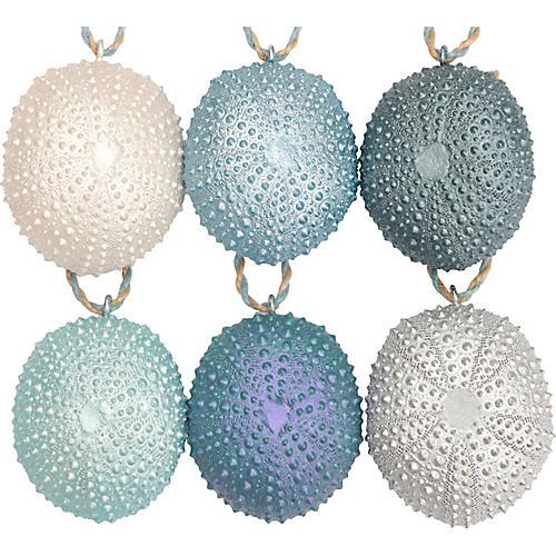 Sea Urchin Ornaments, S/6