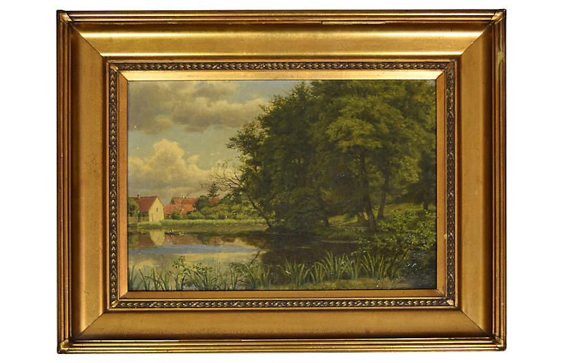 19th-C. English Lake Scene