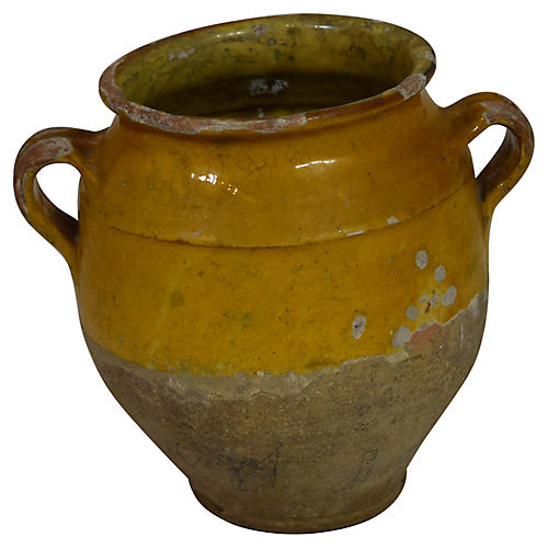 19th-C. French Confit Pot