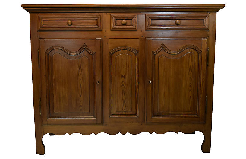 19th-C French Country Pine Buffet