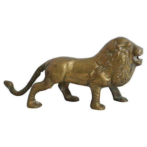 1950s Brass Lion