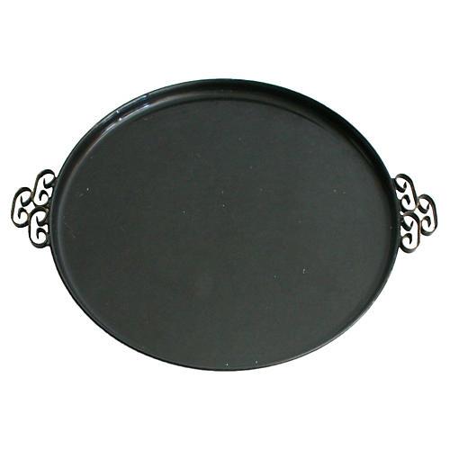 Black Enameled Tray
