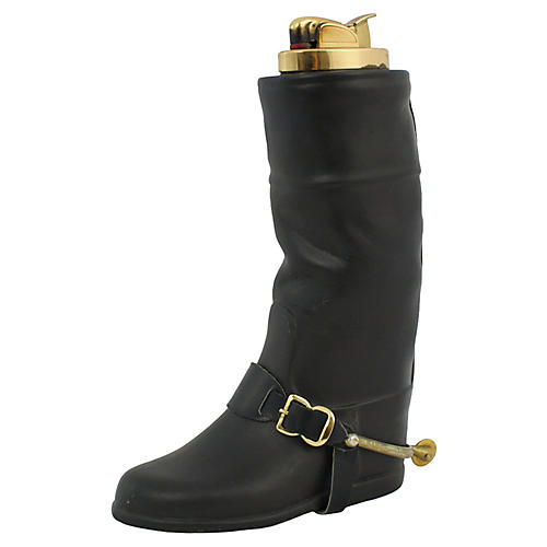 English Riding Boot Table Lighter