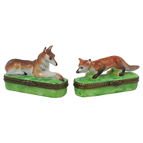 Fox & Hound Limoges Boxes, S/2