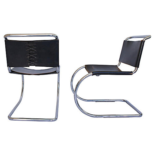 Knoll Cantilever Chairs, Pair