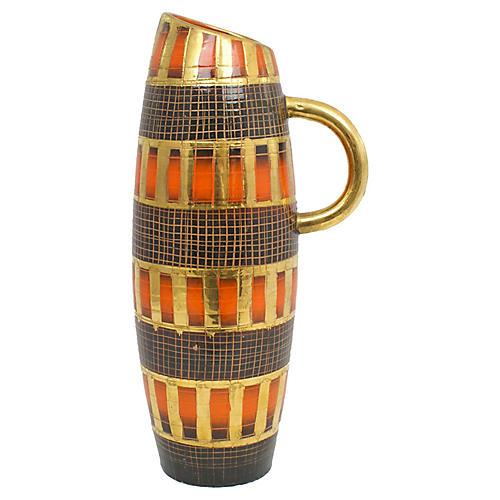 Italian Sgraffito Pottery Vase