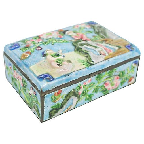 Antique Enamelware Box