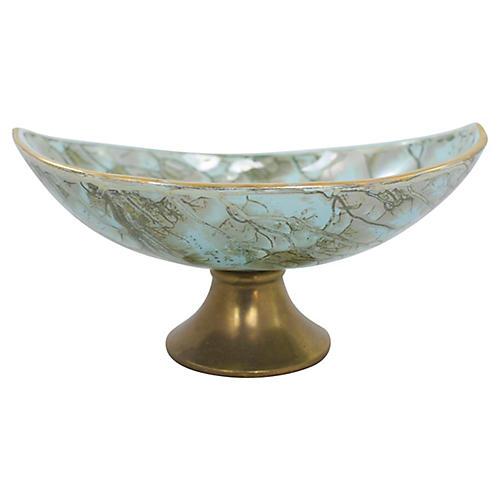 Delft Pedestal Bowl