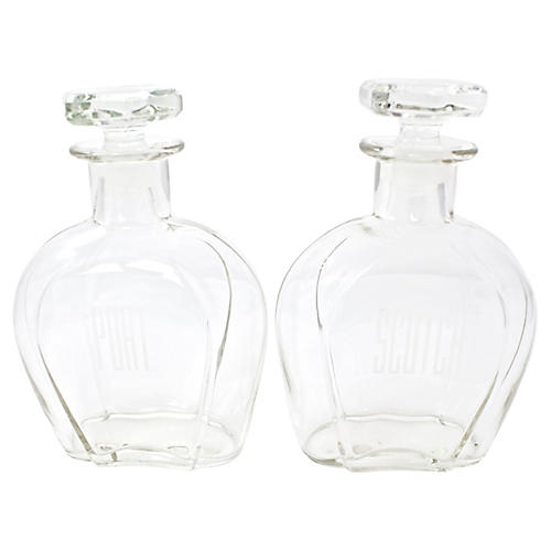 Mid-Century Liquor Decanters, Pr