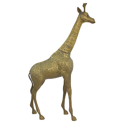 Large Brass Giraffe