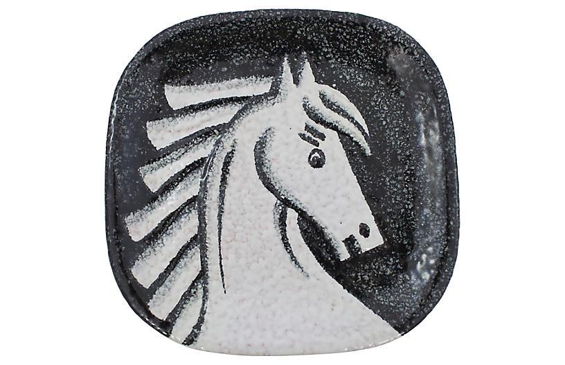 Mid-Century Modern Italian Horse Tray