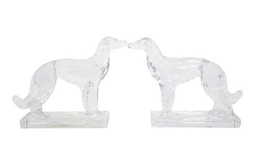Russian Wolfhound Bookends