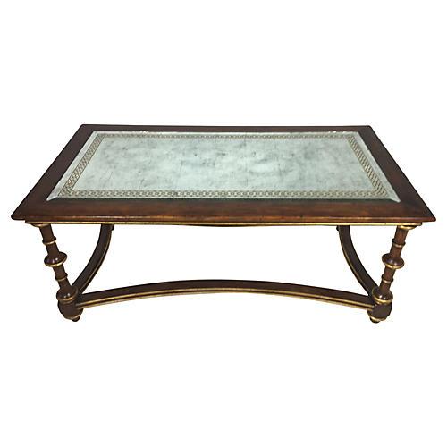 Mirrored Italian Walnut Coffee Table